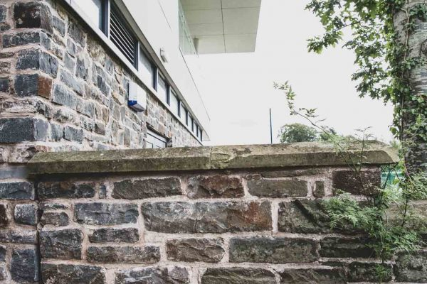 Howells School New Sports Pavilion Old Wall Meets New Wall Henstaff Construction