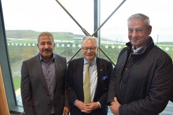 Rest Bay opening Akbar Ali, Lord Dafydd Elis-Thomas MS, Tony Pearson